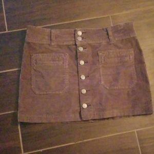 Free people greenish brown short skirt
